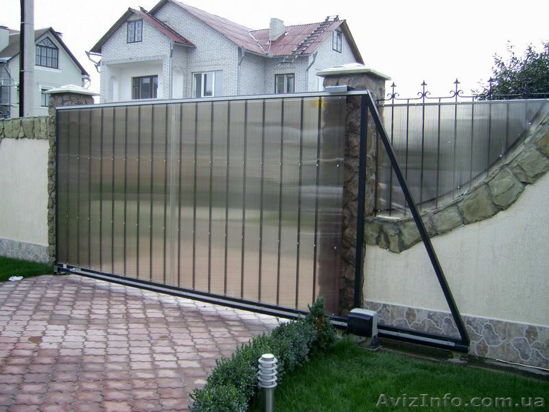 Какие лучше делать въездные ворота ворота распашные с метало профиля