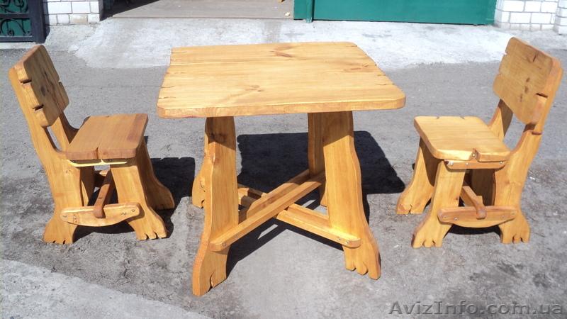 Как сделать стол из стула и досок 722