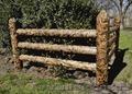 Декоративный Забор из дерева ограда паркан Тин