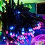 Бахрома 3х0.5м черный ПВХ кабель,  мульти цвет